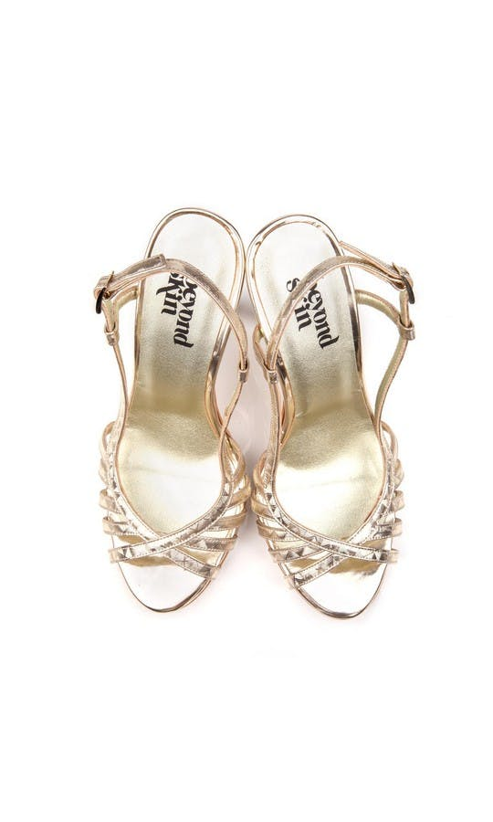 Beyond Skin Bridal Collection Geogold Luna Sandals #2