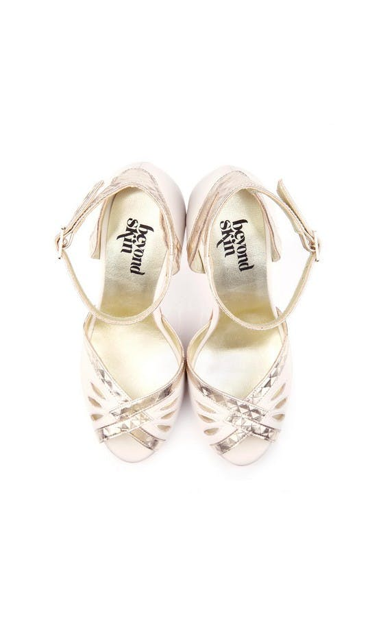 Beyond Skin Bridal Collection Cream Patti B Heels #2