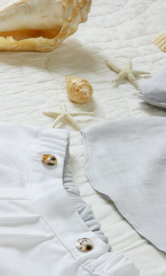 Little Eglantine Baby Page Boys White Cotton Shorts #2