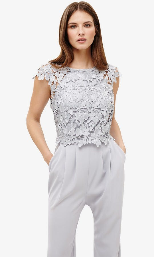 Nieve: Lace Bodice Jumpsuit mother of the bride outfit ...