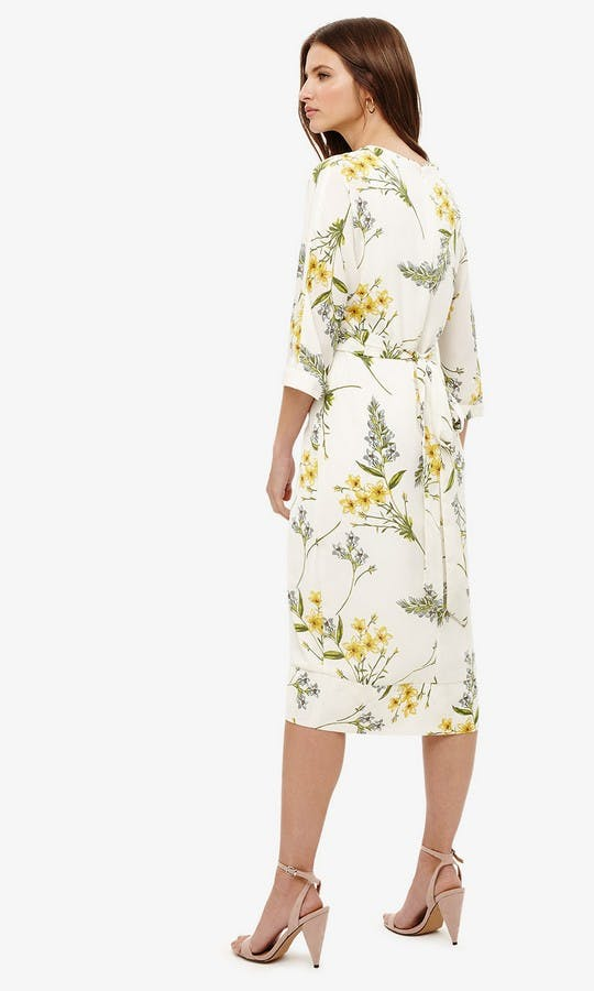 Sandrine Floral Wrap Tie Dress Mother Of The Bride Outfit