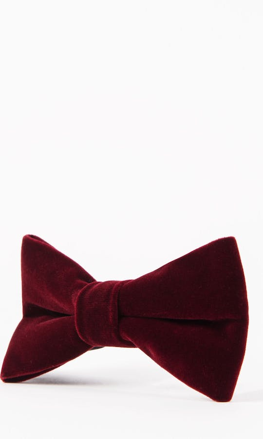 Marc Darcy Accessories Wine Velvet Bow Tie