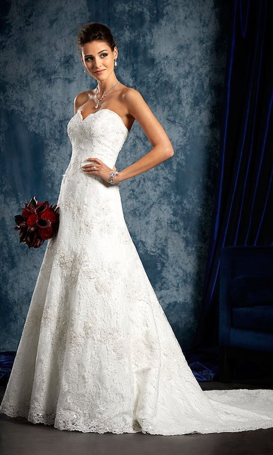 801 Wedding Dress Alfred Angelo Sapphire Bridal Collection Fall