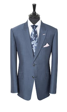 King & Allen Bespoke Suits Light Blue #1