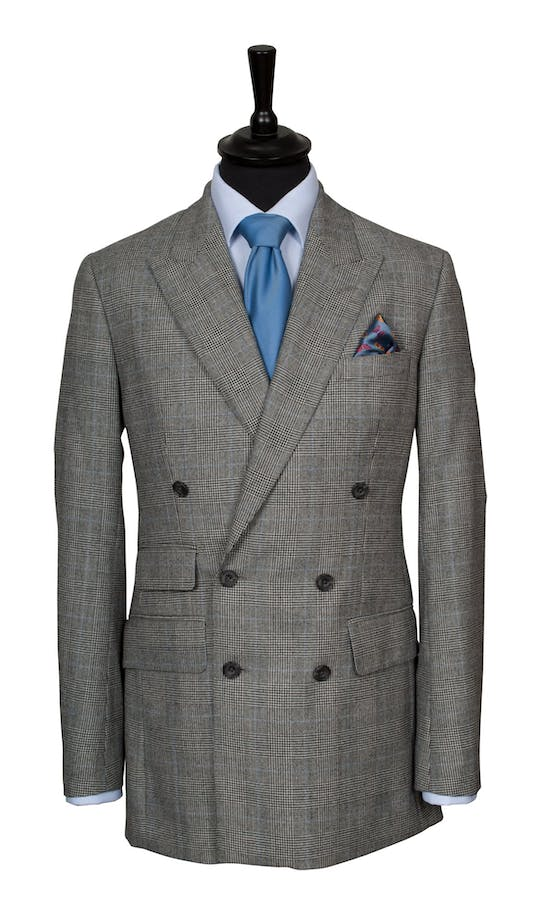 King & Allen Bespoke Suits Check Suit