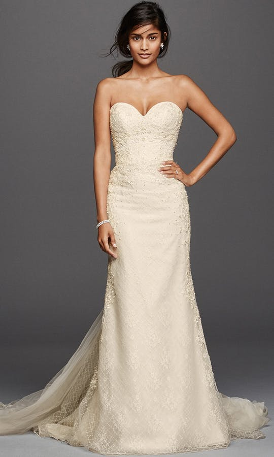 David's Bridal Spring 2016 Oleg Cassini CWG741