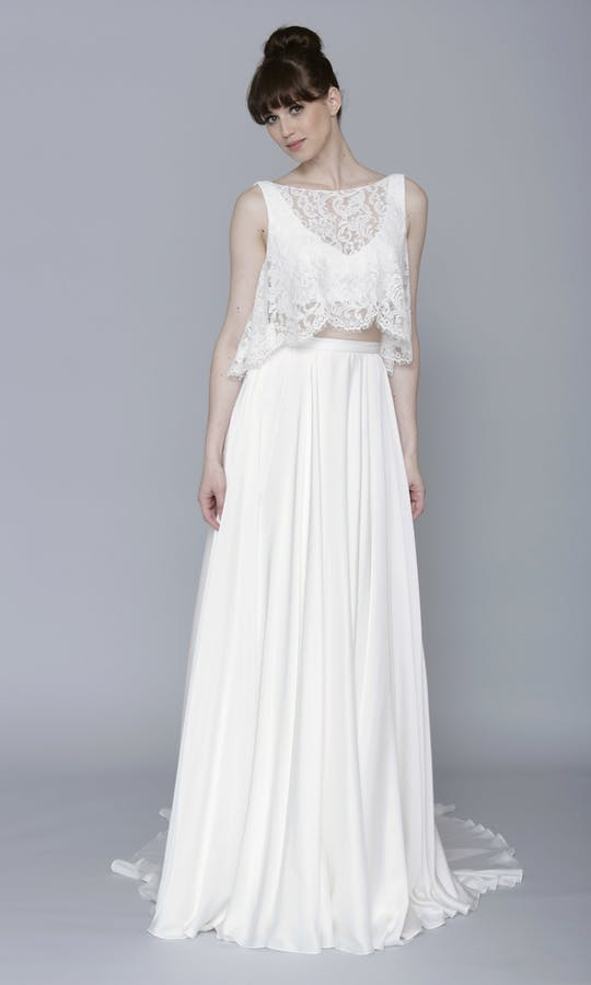 Theia Couture Spring 2016 Poppy Lace Crop Bridal Top: 890269