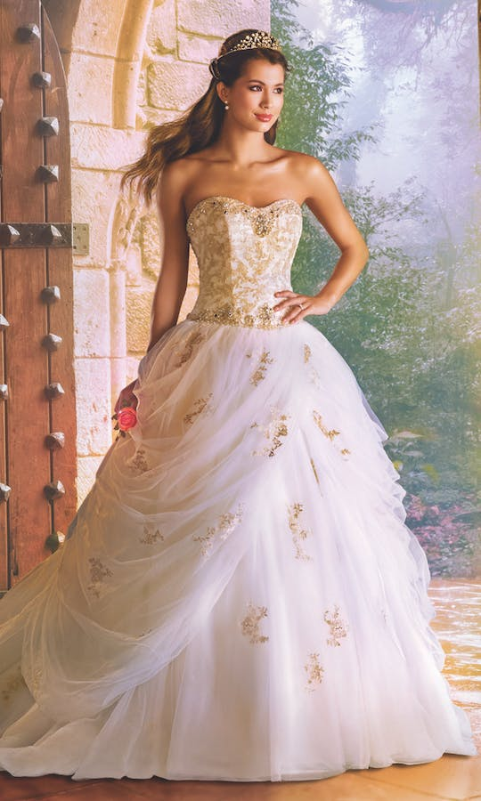 Belle Princess Bridal Gown: Gold wedding dress - Alfred Angelo ...