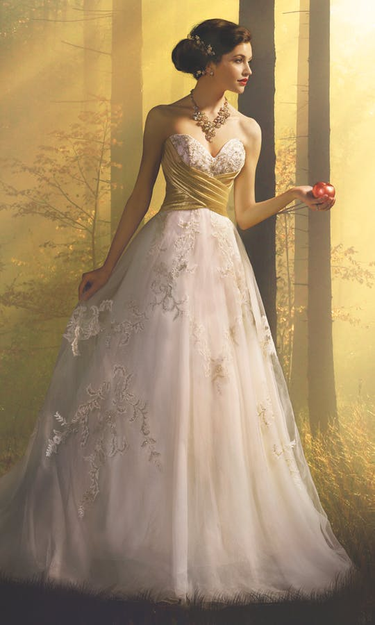 Snow White Wedding Dress Gold Wedding Dress Alfred Angelo