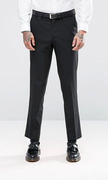 ASOS Mens Occasion Wear SS18 Slim Tuxedo Suit Trousers In Black #23
