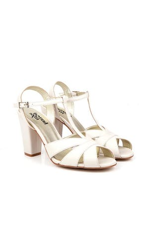 62fed6fa0d66 Beyond Skin Bridal Collection Aurora Cream Sandals