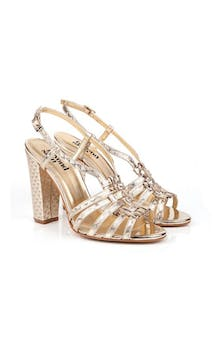 Beyond Skin Bridal Collection Geogold Candice Sandals #4