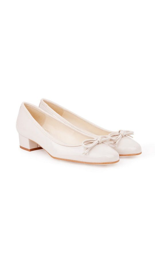 Beyond Skin Bridal Collection Coco Cream Mid Heel Shoes