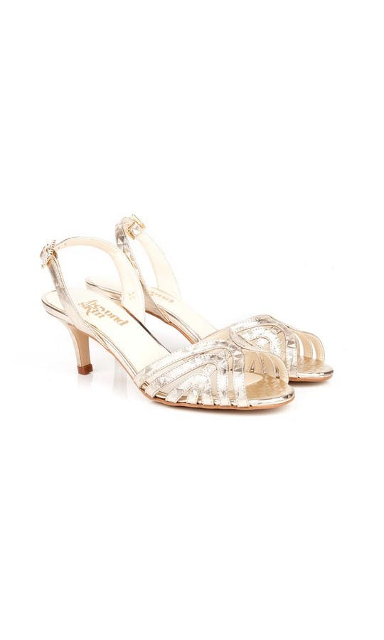 Beyond Skin Bridal Collection Geo Gold Luella S Sandals