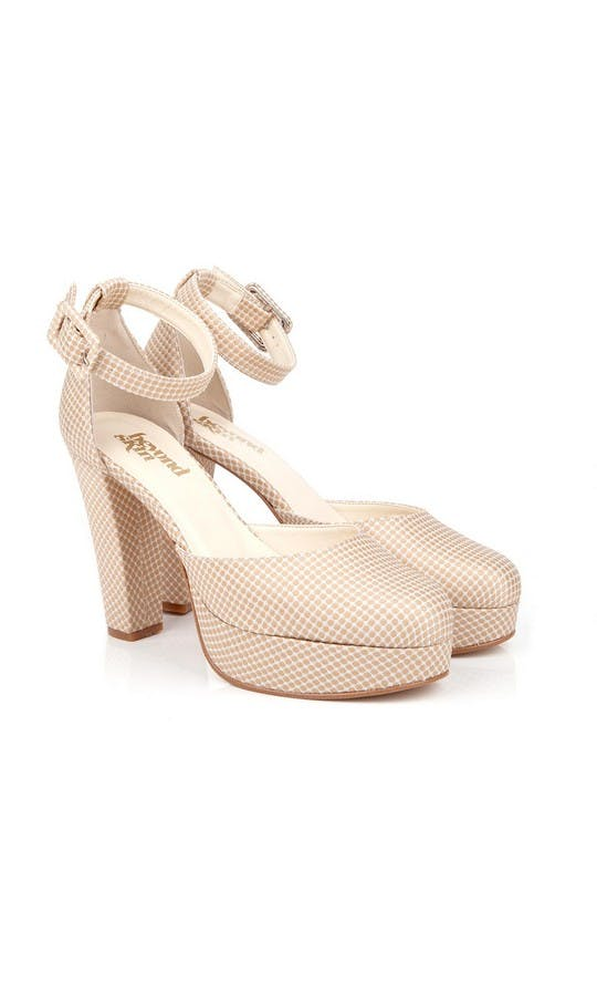 Beyond Skin Bridal Collection Valerie Cream Polka Platforms