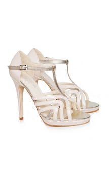 Beyond Skin Bridal Collection Zoe Cream High Sandals #30