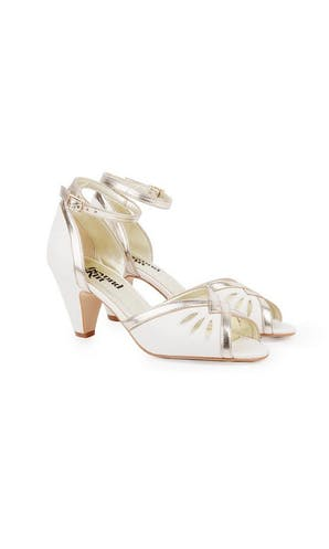 Beyond Skin Bridal Collection Leah Ivory/Gold Sandals