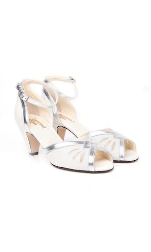 Beyond Skin Bridal Collection Leah Ivory/Silver Sandals