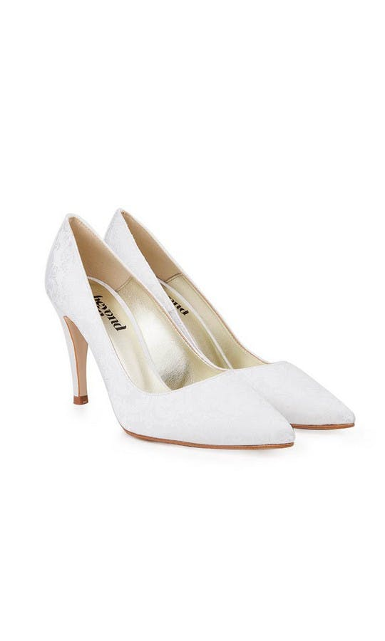 Beyond Skin Bridal Collection Lexie B White Damask Stilettos