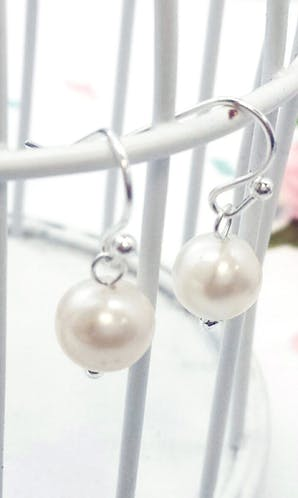 Life Charms The Wedding Collection Freshwater Pearl Hook Earrings