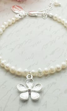 Life Charms The Wedding Collection Will You Be My Flower Girl Pearl Bracelet #5