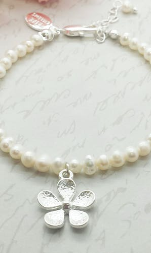 Life Charms The Wedding Collection Will You Be My Flower Girl Pearl Bracelet