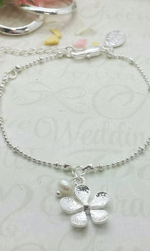Life Charms The Wedding Collection Will You Be My Flower Girl Silver Bracelet