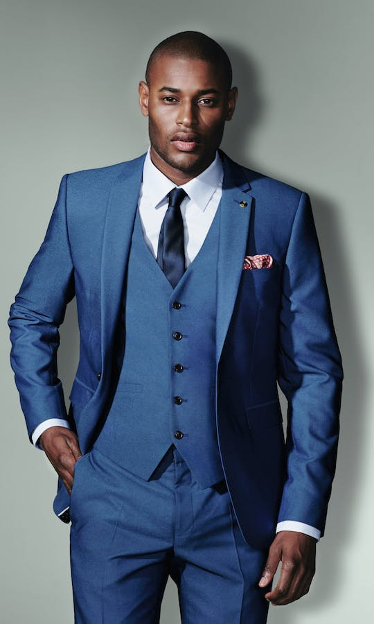 Burton Smart Occasion Three Piece Indigo Skinny Suit