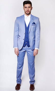 Marc Darcy Wedding Suits Howard - Light Blue #7