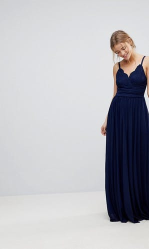 ASOS SS18 Bridesmaids Cami Maxi Dress with Lace Insert