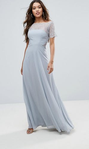 a5ad141be335 ASOS SS18 Bridesmaids Lace Insert Panelled Maxi Dress