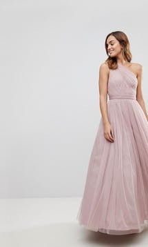 ASOS SS18 Bridesmaids Tulle One Shoulder Maxi Dress #5