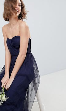 ASOS SS18 Bridesmaids Bridesmaid Bandeau Tulle Maxi Dress #16
