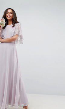 ASOS SS18 Bridesmaids Delicate Lace Applique Maxi Dress #15