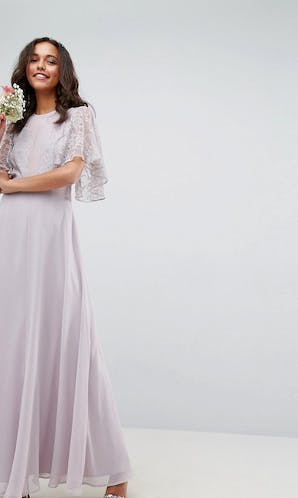 ASOS SS18 Bridesmaids Delicate Lace Applique Maxi Dress