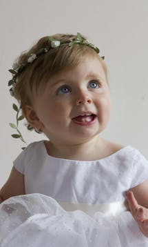 Little Eglantine Baby Flower Girls White Floral Headdress #7