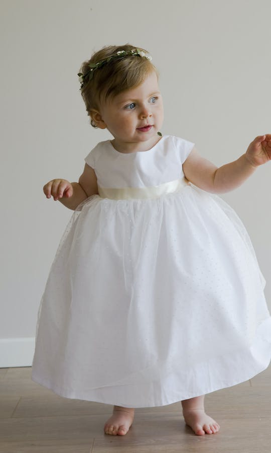 6582e107ab11 Anna flower girl dress - Little Eglantine  Baby Flower Girls ...