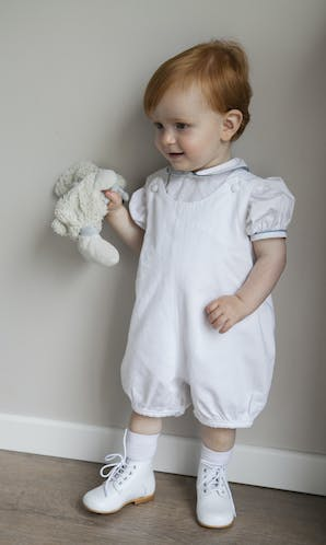 Little Eglantine Baby Page Boys Peter Pan Cotton Shirt with Puff Sleeves