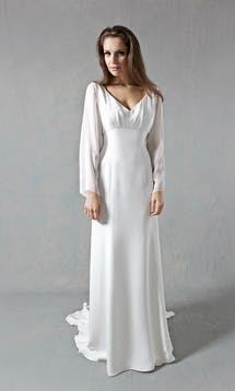Lucy Martin Bridal The Collection Flared Sleeve Wedding Dress #2
