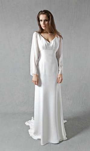 Lucy Martin Bridal The Collection Flared Sleeve Wedding Dress