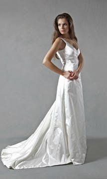 Lucy Martin Bridal The Collection Gathered Wrap Wedding Dress #8
