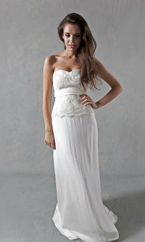 Lucy Martin Bridal The Collection Lace Bodice Wedding Dress