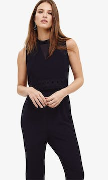 782e34a461d ... Phase Eight  Mother of the Bride or Groom SS18 Peal  Navy Embroidered  Jumpsuit ...