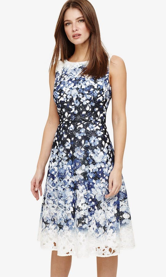 Angela Floral Lace Dress Wedding Guest Outfit Phase Eight Ss18