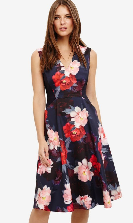 Elba Floral Fit And Flare Dress Wedding Guest Outfit Phase Eight