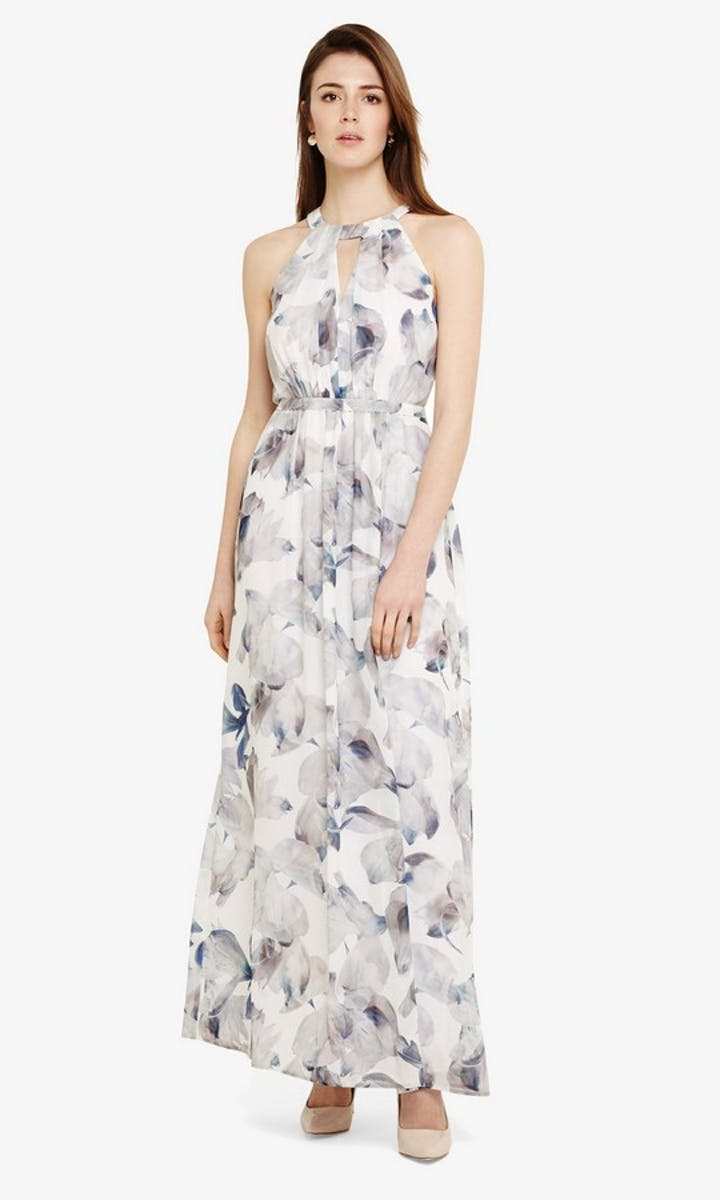 Salema: Floral Maxi Dress wedding guest outfit - Phase ...