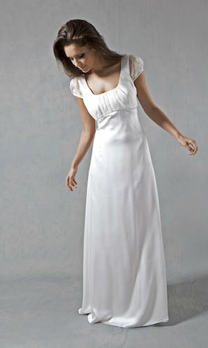 Lucy Martin Bridal The Collection Cap Sleeve Wedding Dress