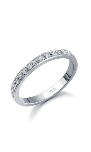 ROX Eternity Rings White Gold Brilliant Pave Set Eternity Ring 0.25ct