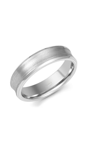 ROX Men's Wedding Rings Gents Palladium Fancy Matt Wedding Ring 6mm