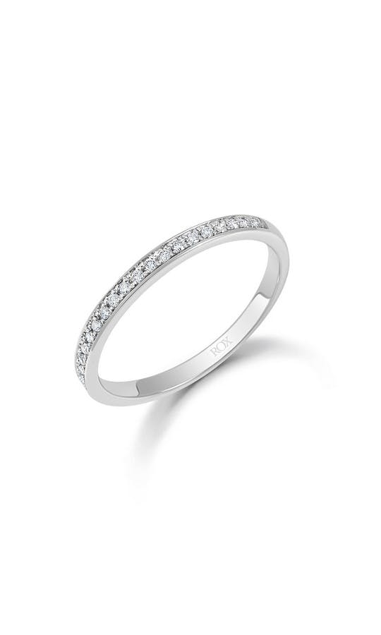 ROX Eternity Rings White Gold Brilliant Pave Set Eternity Ring 0.10ct